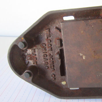 Vintage Office Supplies Large Industrial Hole Puncher 1930 Office Paper Puncher Marvel Hole Puncher Industrial Cast Metal Paper Weight