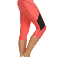 Always Athletic Yoga Capri for Women - MultiColor Sport Capris with BEST Fabric