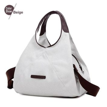 Women's High Quality Canvas Hobo Tote Shoulder Handbag