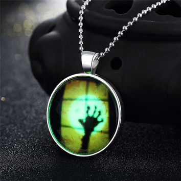 Shiny Gift Jewelry New Arrival Stylish Accessory Skull Terrible Noctilucent Necklace [8065787329]