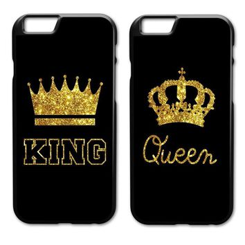 Cool King Queen Coque Cover Case for iPhone 4S 5 5S 5C SE 6 6S 7 8 Plus X Samsung Galaxy S3 S4 S5 Mini S6 S7 S8 Edge Plus A3 A5 A7AT_93_12