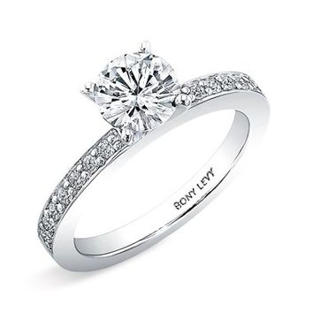 Women's Bony Levy Channel Set Diamond Engagement Ring Setting - White Gold (Nordstrom Exclusive)