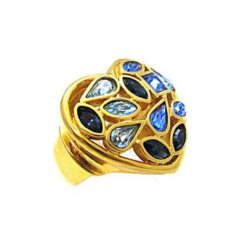 fc248cfee4e Ring plated gold YVES SAINT LAURENT 1980s