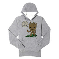 I am Groot hoodie heppy feed and sizing.