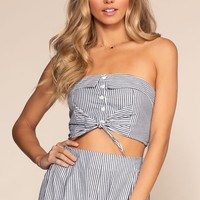 Charlotte Stripe Crop Top