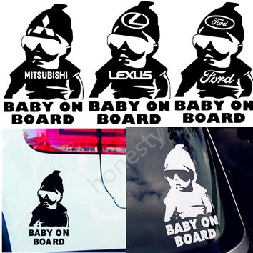 Fashion Baby On Board Car Window Truck Auto Wall Home Vinyl Sticker Decor Gift