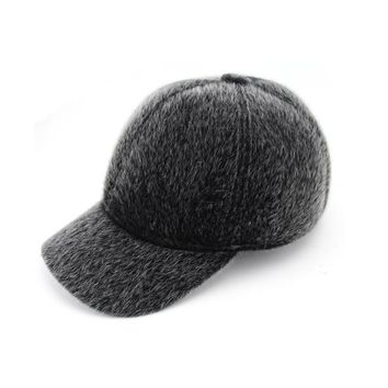 Top Fashion Adult Solid Size 56-60cm Winter Men's Cap Warm Hat Baseball With Ear Flaps Russia Caps For Men