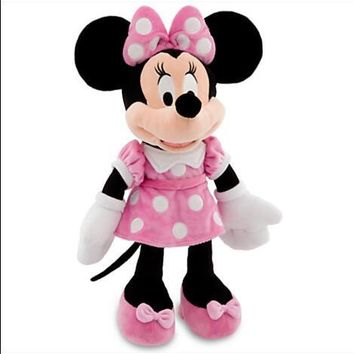 New Minnie Mouse Toy 48cm Minnie Pink Stuffed Plush Animals Girlfriend & Kid Toys Chrismas Gift High quality