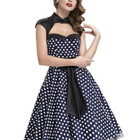 Womens summer dresses 2017 summer style 50s Vintage Polka dot dress swing plus size robe Sexy club Casual Party Dresses vestidos