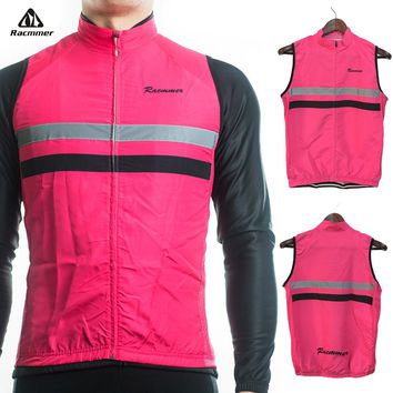 Racmmer 2018 Windstopper Windproof Sleeveless Cycling Jersey Clothing Bicycle Bike Reflective Maillot Chaleco Ciclismo #WX-05