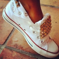 Hot Style High Help Flanging Rivets Canvas Sneakers