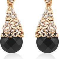 Big Tree 4ever Young 18K Yellow Gold Plated Crystal Alloy Drop Earring Price in India - Buy Big Tree 4ever Young 18K Yellow Gold Plated Crystal Alloy Drop Earring Online at Best Prices in India | Flipkart.com