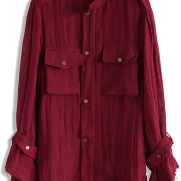 Rebellious Spirit Jacket in Wine