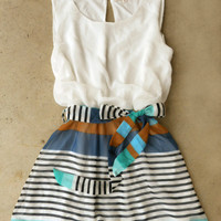 Swing & Stripe Dress [3882] - $38.00 : Vintage Inspired Clothing & Affordable Summer Frocks, deloom | Modern. Vintage. Crafted.
