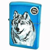Zippo AD215 Wolf High Polished Blue Windproof Lighter