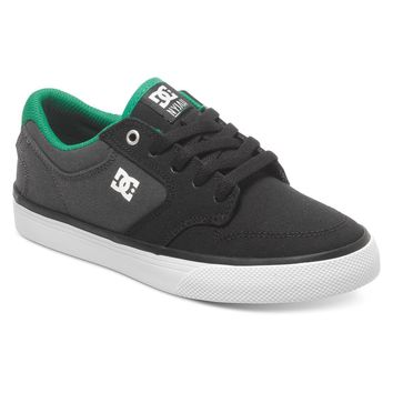 DC Nyjah Vulc TX Kid's Skate Shoe (ADBS300117 - Black/Grey/Green)