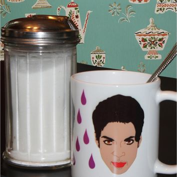 Purple Rain Prince Mug - Illustrated in the USA