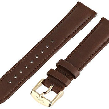 Fossil Women's S181195 Leather 18mm Watch Strap - Brown