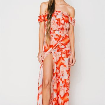 Flynn Skye Bella Maxi Dress in Flaming Moonshine