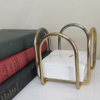 Vintage Gold Memo Holder | note pad holder | gold office accessories | desk accessories