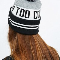 Reason Too Cold Beanie in Black and Grey - Urban Outfitters