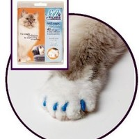 Feline Soft Claws Cat Nail Caps Take-Home Kit, Large, Blue