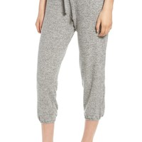 Project Social T Paris Heathered Crop Sweatpants | Nordstrom