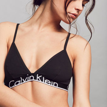 Calvin Klein ID Cotton Wide Band Triangle Bra | Urban Outfitters