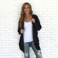 Out Of The Woods Knit Cardigan In Black