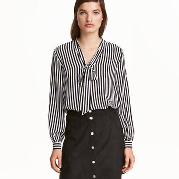 H&M Blouse with Tie $17.99