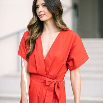 Layla Red Romper