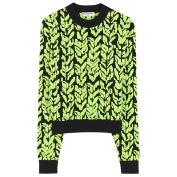 balenciaga - jacquard stretch sweater