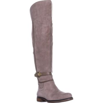 Franco Sarto Crimson Wide Calf Riding Boots, Cocco, 7.5 US / 37.5 EU