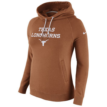 Texas Longhorns Nike Women's Stadium Rally Funnel Neck Hoodie - Burnt Orange