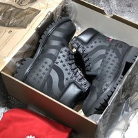 Timberland x Supreme Black US Flag MEN WOMEN BOOTS
