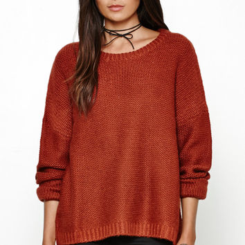 Honey Punch Solid Pullover Sweater at PacSun.com