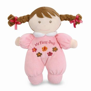 Pink Brown Hair My First Doll