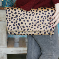 Leopard Clutch / Fold Over