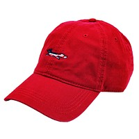 Patriotic Longshanks Hat in Red Twill by Country Club Prep
