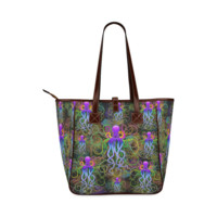 Octopus Psychedelic Luminescence Classic Tote Bag (Model 1644) | ID: D292177