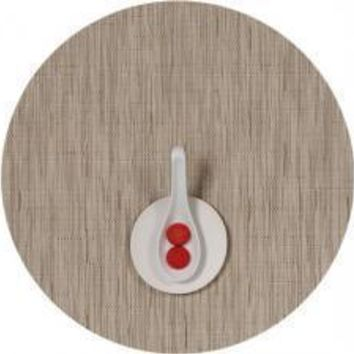 CHILEWICH Bamboo Round Placemats S/4   Oat