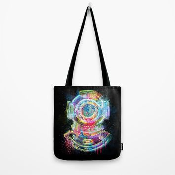 The Diver Tote Bag by Starflyer Art