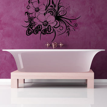 Vinyl Wall Decal Sticker Spa Flowers #OS_AA1394