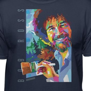 Bob Ross The Joy of Painting Geometric T-shirt