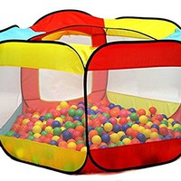 Kiddey Ball Pit Play Tent for Kids - 6-sided Playhouse for Children - Fill with Plastic Balls (Balls Not Included) or Use As an Indoor or Outdoor Tent By Kiddey™