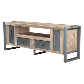 Asta Furniture Industrial Media Console - Silver