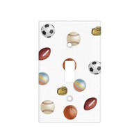 Sports ball's, light switch cover