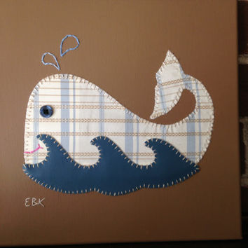 Whale #5 Fabric Wall Art