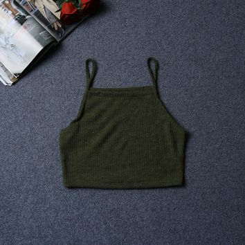Women Short TShirt Sexy Sleeveless Tank Tops Lady Strap Top Vest for Summer