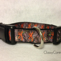 Orange Browning Camo Dog Collar